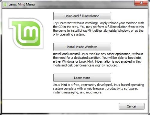 LinuxMint - install1